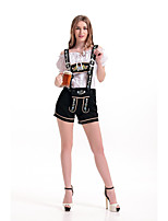 Cosplay Costumes Oktoberfest/Beer Movie Cosplay Black Solid Top / Pants Oktoberfest Polyester
