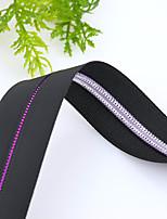 Видимый Zipper Холщовая ткань Черный
