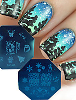 New 2016 Christmas Series Nail Art Stamp Templates DIY Santa Claus Tree Decor Nails Tips Manicure Stamping Plates MC01/02