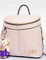 Casual Outdoor Shopping Backpack Women PU Beige Black