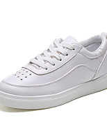 Черный / Белый-Женский-На каждый день-Полиуретан-На плоской подошве-Удобная обувь-Кеды