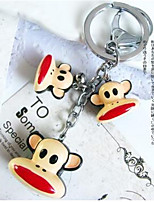 Animal Creative Key Button Monkey Cute Car Key Chain