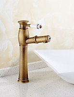 Bathroom Sink Faucet Antique Brass Single Handle Centerset Faucet