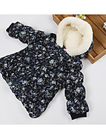 Girl's Casual/Daily Floral Down & Cotton PaddedPolyester Winter / Spring / Fall Blue / Orange
