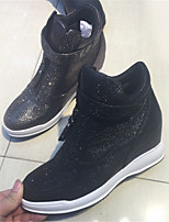 Women's Sneakers Fall Winter Others Glitter Casual Wedge Heel Black Silver