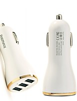 Remax 5V/3.4 Quick Car Charger 3 USB Ports USB Car Charger For GPS iPhone Samsung Pad LG Cell Phone Tablet