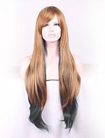 longs perruques de matériaux longs pour les femmes de style montré la couleur perruques de costume droites cosplay perruques
