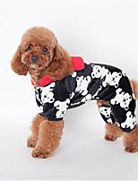 Собаки Толстовки Черный / Розовый / Телесный Одежда для собак Зима / Весна/осень Цветы Милые / На каждый день