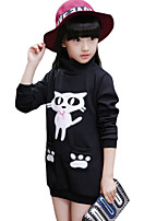 Girl Casual/Daily Solid Hoodie & Sweatshirt,Cotton Winter Long Sleeve Regular