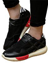 Unisex-Sneaker-Lässig-PU-Flacher Absatz-Komfort-Schwarz Silber Gold