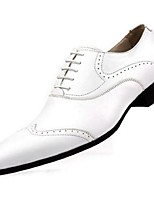 Men's Oxfords Comfort Cowhide Wedding Party & Evening Black Brown Yellow White