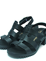 Women's Sandals Summer Slingback PVC Casual Chunky Heel Others Black Blue Others