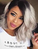 мода красота волна черного до серого цвета градиента синтетические парики для черных женщин новая прическа