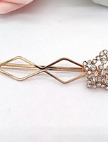 Women Gold Plated / Alloy / Rhinestone Hair Clip,Cute / Party / Work / Casual