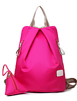 Women Nylon Casual Backpack Purple / Blue / Red / Black / Fuchsia