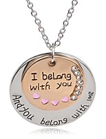 Necklace I belong with you Moon Pendant Necklaces Jewelry Party / Daily Unique Design