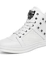 Men's Fashion Boots PU Party & Evening Flat Heel Rivet / Lace-up Black / Red / White Walking EU39-43