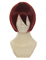 Starry Sky Yoh Tomoe Wine Red Short Straight Halloween Wigs Synthetic Wigs Costume Wigs