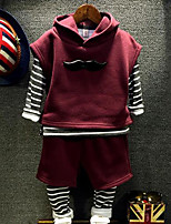 Boy's Casual/Daily Solid Clothing SetCotton Winter / Spring / Fall Red