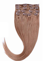 Brazilian Clip In Remy Human Hair #16 Golden Blonde 14-26 Real Human Hair 70g 80g Clip In Virgin Human Hair