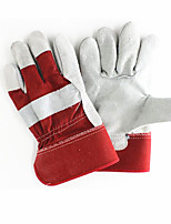 Two Layer Of Leather Cloth (236#) Protective Gloves  2 Pairs Packaged for Sale