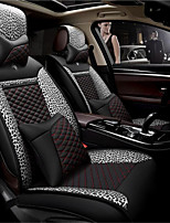 LDJ Leather Leopard Pattern Car Cushion