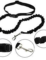 Dog Leash Adjustable/Retractable Solid Red / Black / Blue Nylon
