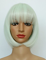 Cheap Short Straight White Color Wigs Hight Quality Heat Resistant Wigs
