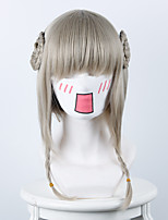 Magic girl breeding plan holy girl mixed linen gray hemp wreath cosplay animation wig
