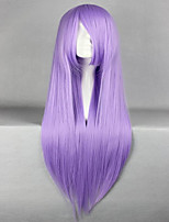 promotion saint seiya saori athena kido 80cm longue ligne droite d'anime violet perruque cosplay