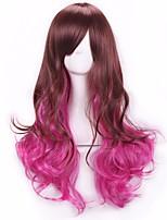 новый стиль парик моды коричневого до розового цвета косплей синтетический парик