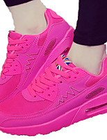 Damen-Sneaker-Lässig-Tüll-Flacher Absatz-Komfort-Schwarz Grün Rosa Lila Rot Weiß Grau Orange