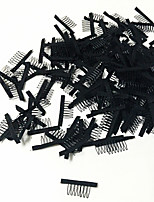 Wig Accessories 20 pcs/Lot Hair Wig Combs and Clips For Wig Cap Black Color Lace Wig Making Combs and Clips For Wig Cap
