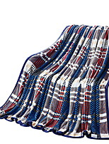 Flannel Multi-color,Solid Plaid/Check 100% Polyester Blankets 200x230cm