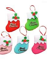 6шт маленькие сапоги висит украшения елки рождественские украшения праздника рождественские носки (стиль случайный)