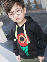 Boy's Casual/Daily Print Hoodie & SweatshirtCotton Spring / Fall Black