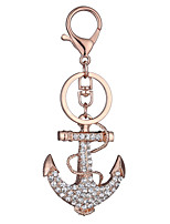Europe And The United States New Realistic Guitar Key Chain Ship's Anchor Key Chain Bag Car Key Pendant Valentine's Day Gift Factory Direct Sales