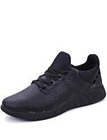 Unisex-Sneaker-Outddor Lässig Sportlich-Spandex-Flacher Absatz-Knöchelriemen-Schwarz Schwarz und Rot Schwarz und Weiss