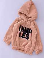 Girl's Casual/Daily Solid Hoodie & SweatshirtCotton Winter / Spring / Fall Black