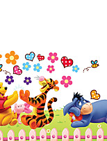 Cartoon Winnie The Pooh Tigger Eeyore Wall Stickers DIY Kindergarten Children's Bedroom Wall Decals
