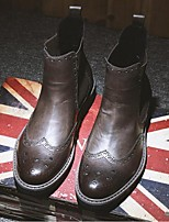 Men's Boots Comfort Microfibre Casual Black Brown