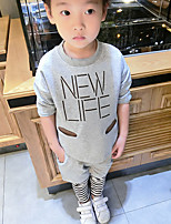 Boy's Casual/Daily Print Clothing SetCotton Spring / Fall Green / Gray