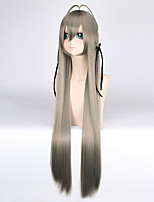 100CM Straight Long Length New Green Color Dull Blue Synthetic Wigs High Tempurature Kasugano Sora Anime Lolita Cosplay Wigs