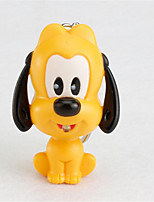 BS-114 Small Yellow Dog And Small Gray Dog Keychain LED Light Emitting Sound Pendant