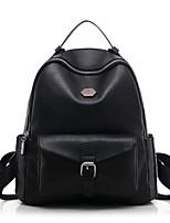 Для женщин Полиуретан На каждый день / Для отдыха на природе / Для шоппинга Рюкзак Черный