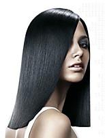 schwarze Farbe gerade europäische synthetische Perücken capless für Afrofrauen