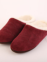 M.livelihood.H Women's Slippers & Flip-Flops Winter Slingback Wool Casual Flat Heel Others Burgundy Others-LB2016024