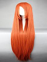 lixívia Inoue Orihime longo jacinth reta calor laranja mulheres resistentes cosplay peruca