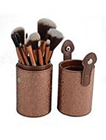 12 Makeup Brushes Set Others Professional / Portable Wood Face / Eye / Lip Gloden
