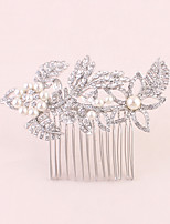 Women's Rhinestone Headpiece-Wedding / Special Occasion / Office & Career Hair Combs 1 Piece Clear